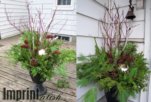 Imprintalish: Around the House-Outdoor Christmas Urns