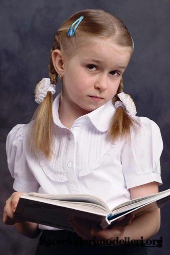 Kız çocukları için birbirinden şirin kolay saç modelleri