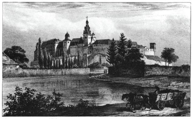 Zamek Królewski na Wawelu od strony zachodniej