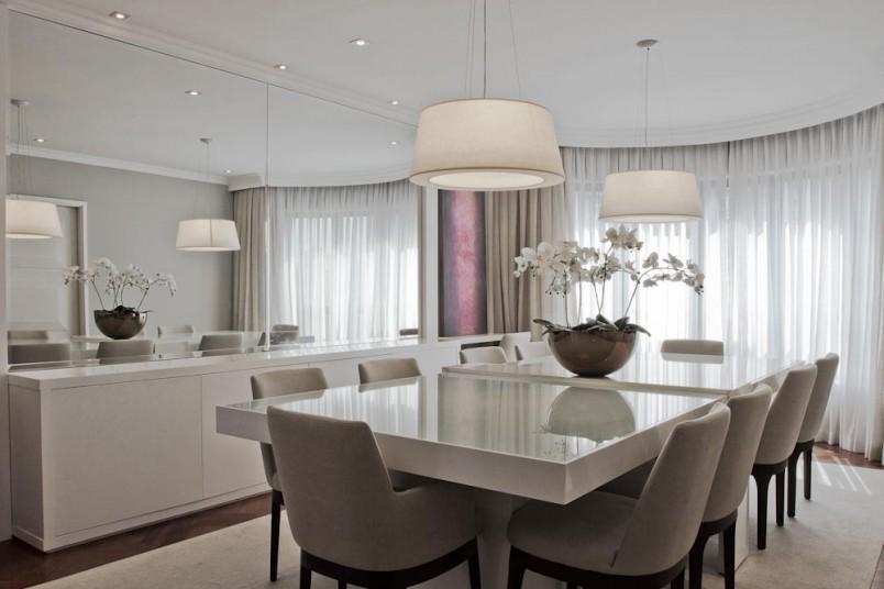 Porta De Vidro Para Sala De Jantar ~ Construindo Minha Casa Clean 21 Salas de Jantar dos Sonhos com Buffet