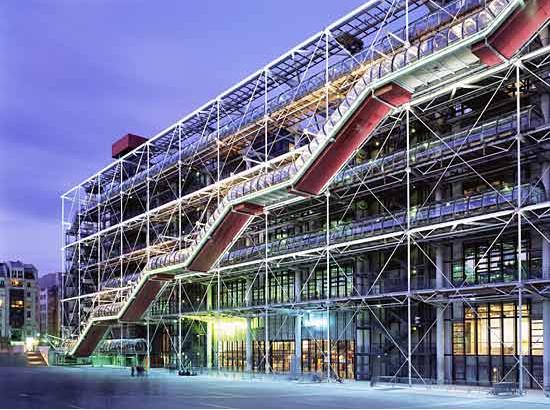 Paris report le georges centre georges pompidou style - Centre george pompidou architecture ...