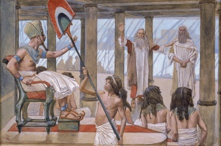 Moses confront's Pharoah