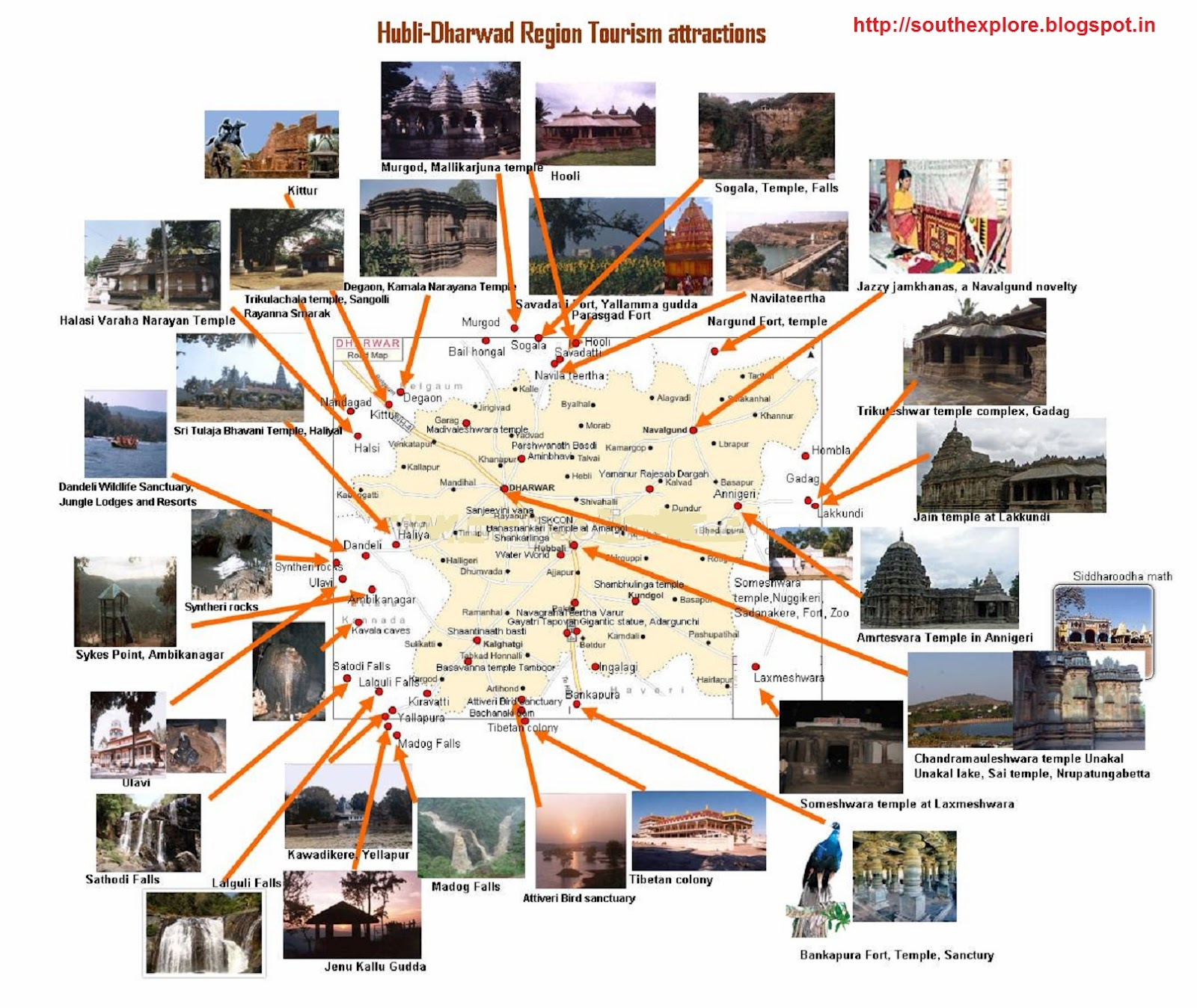 TOURIST PLACES IN HUBLI TOURIST ATTRACTIONS IN HUBLI KARNATAKA – South India Map With Tourist Places