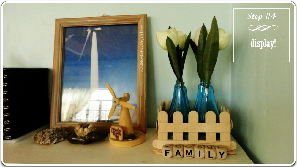 Repurposed Perfume Bottles with Picket Fence Tray