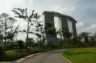 Marina Bay Sands, view from Gardens by the Bay, Singapore