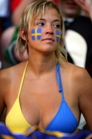 Sexy Hot Swedish Women - Patriot in Bikini