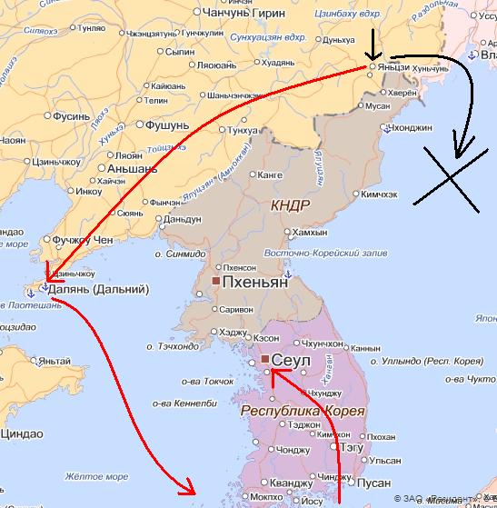 карта к фильму Желтое море 2010