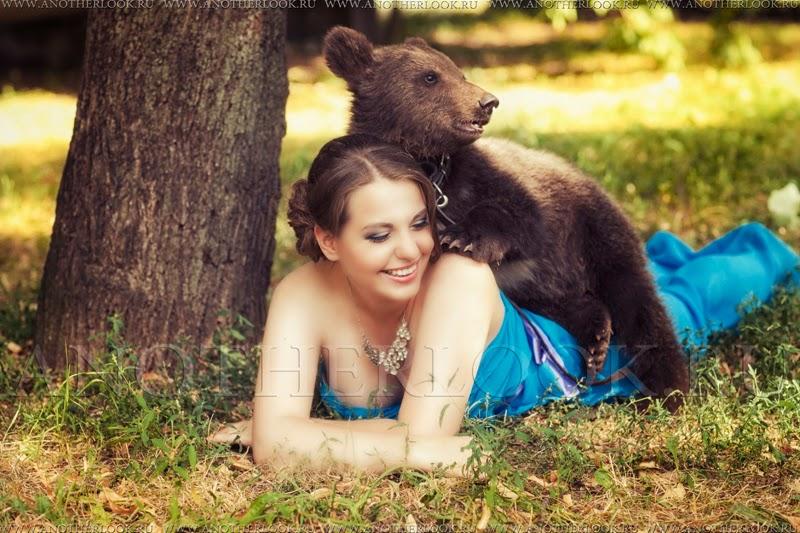 Фотосессия с маленьким медвежонком