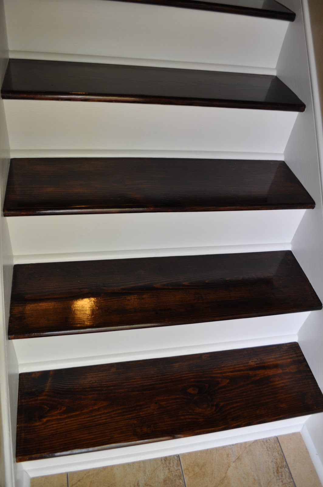 Reclaim ologists and other crafty chicks staircase transformation - How to build a garage cheaply steps ...