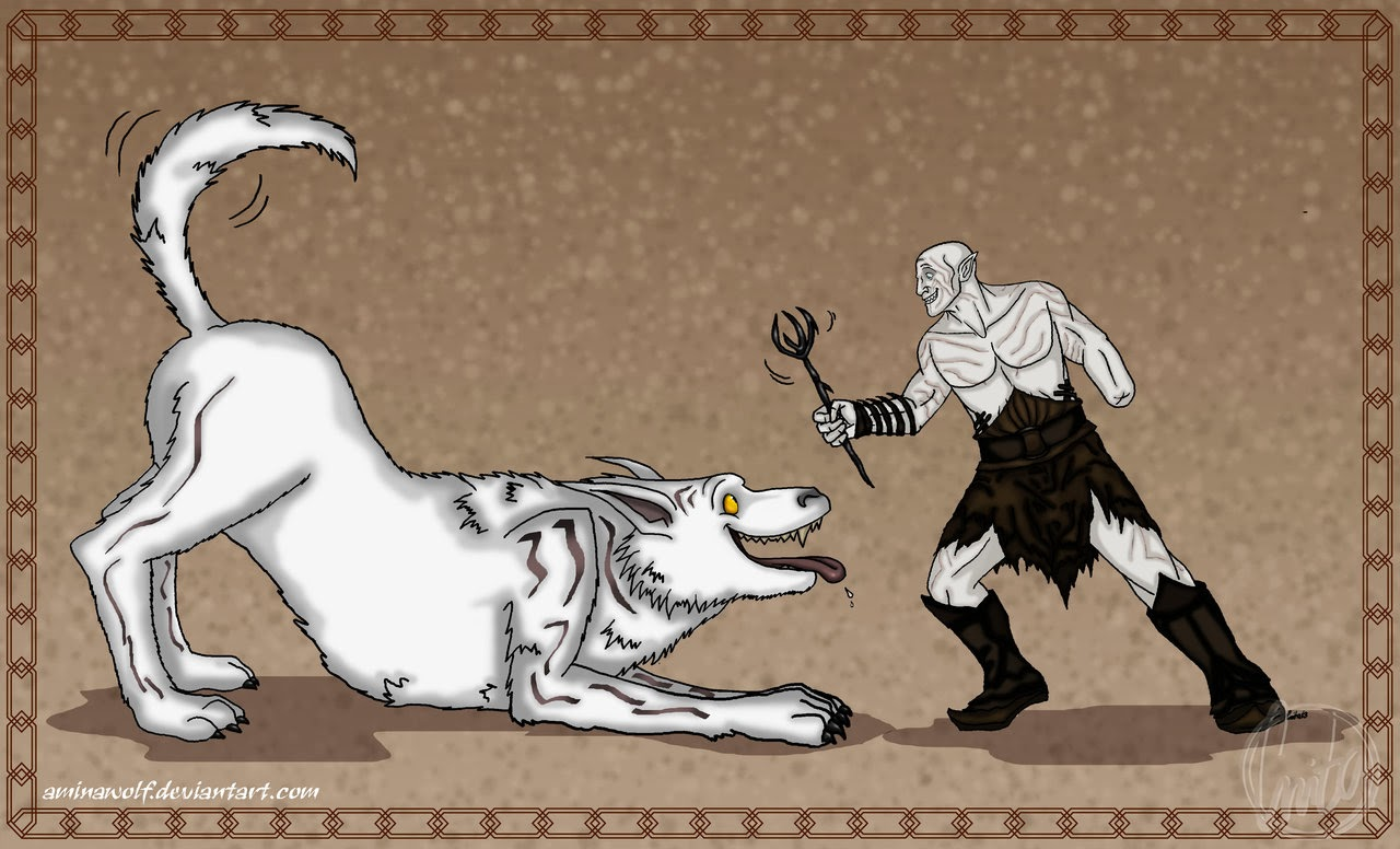 azog-plays-fetch-with-his-warg-fan-art