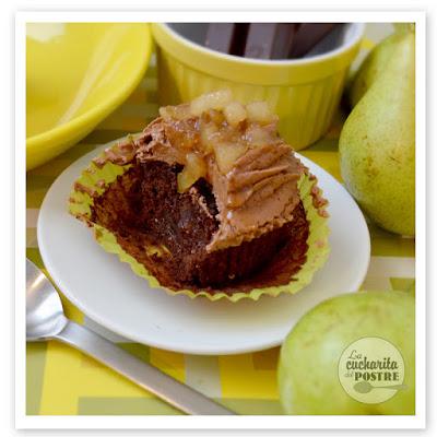 Cupcakes De Chocolate Y Pera / Pear And Chocolate Cupcakes