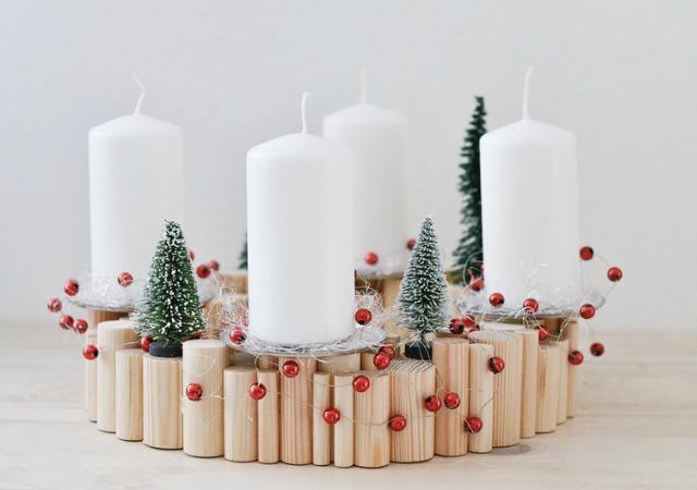 Decoracin Fcil DIY Centro de mesa para Navidad estilo escandinavo