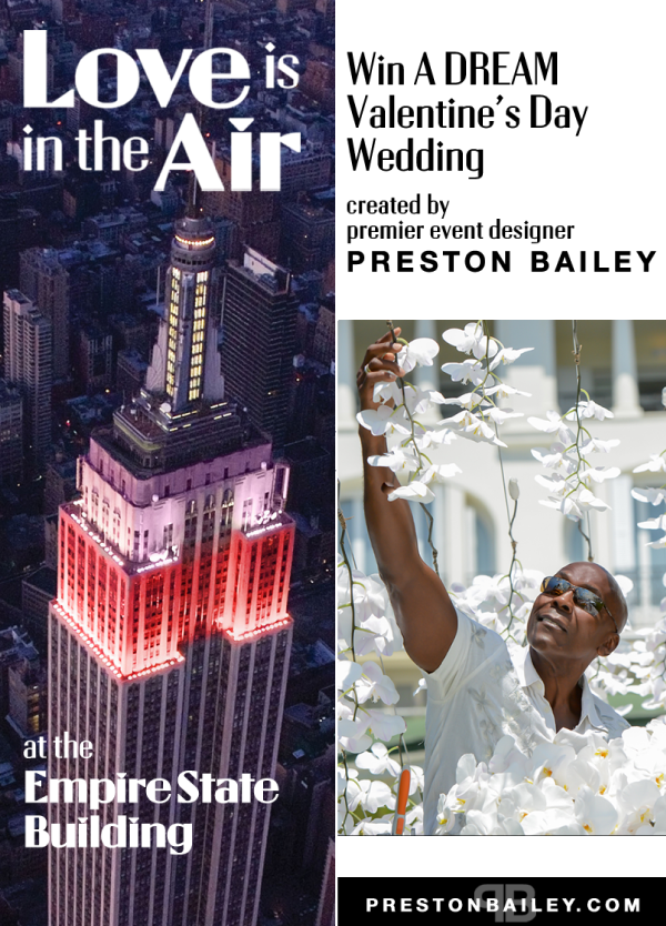 "Empire State Building and Preston Bailey Valentine's Day Wedding Contest, ""Love is in the Air"""