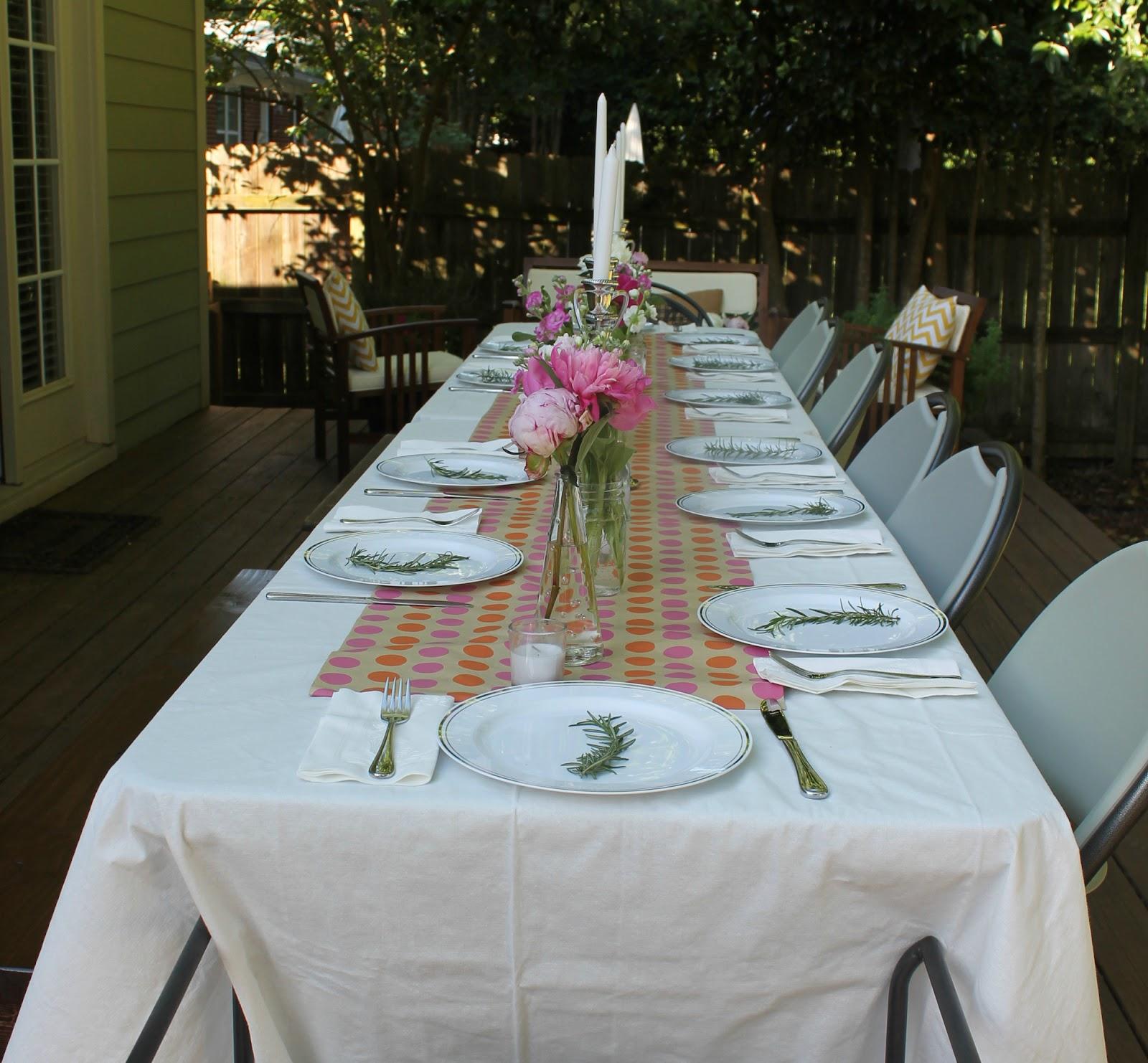 A Backyard Dinner Party
