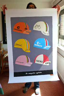 large cycling caps print by gumo