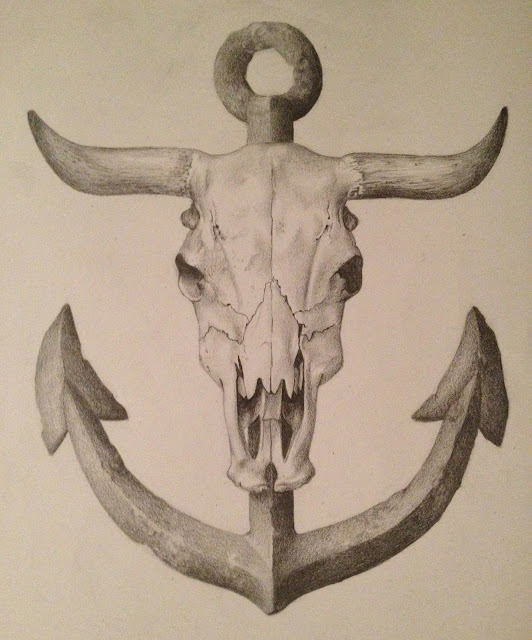 cow skull anchor