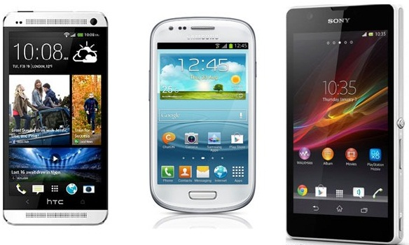 HTC One Mini VS. Galaxy S4 Mini VS. Sony Xperia ZR Specs