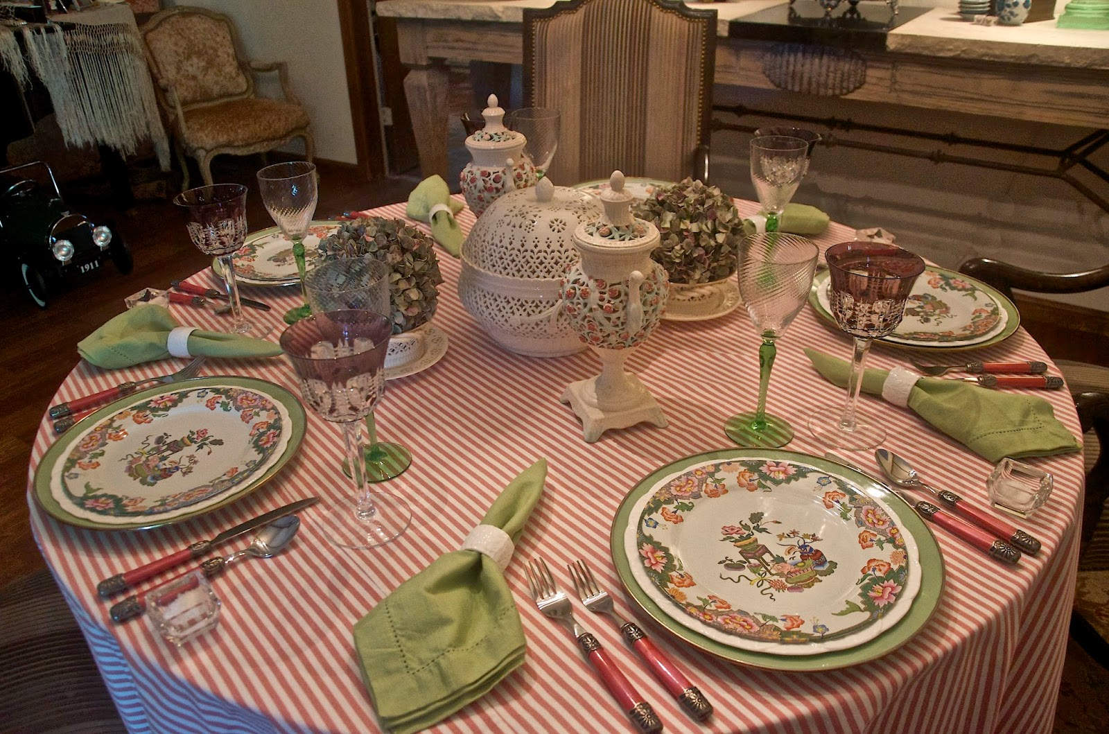 After choosing my dinnerware I started the process of selecting a tablecloth. No matter how many cloths I pulled for consideration I kept going back to ... & Entertaining Women: May 2014