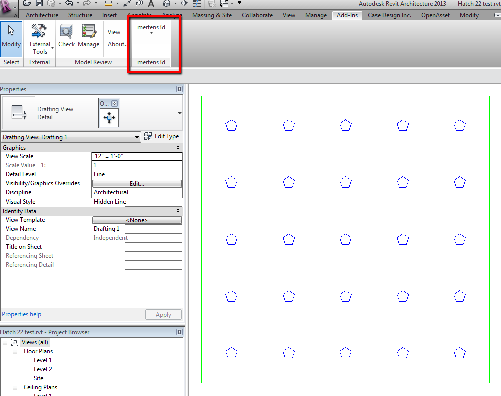 Irevit revit hatch patterns revisited the add in and a new pattern for a perforated ceiling tile dailygadgetfo Gallery