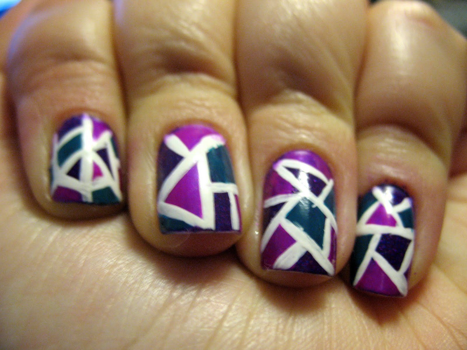 Moondancerjen's Nails: NOTD: China Glaze Mosaic Nail Art