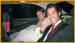 الفنانة التونسية هند صبري وزوجها رجل الاعمال المصري احمد الشريف