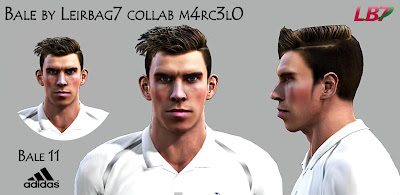 Gareth Bale Face PES 2013 by Leirbag7 collab m4rc3l0
