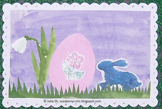 Делаем открытки с детьми: пасхальная открытка своими руками