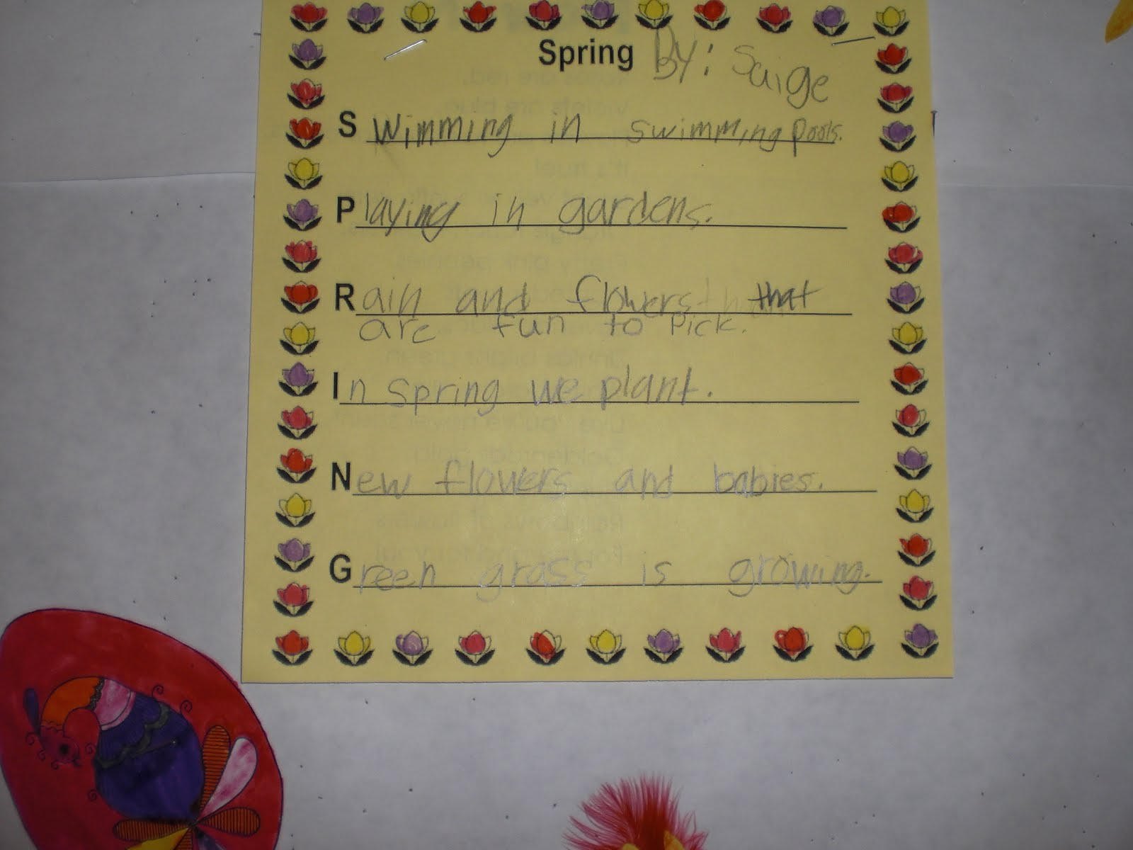 Acrostic Poems For Kids About Spring