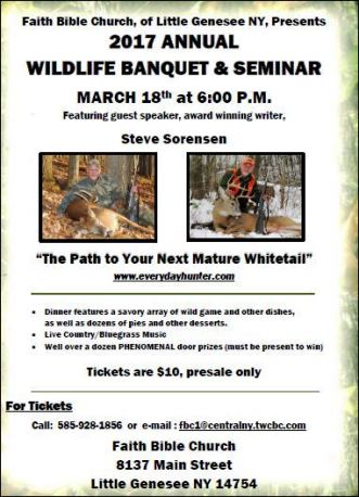 3-18 Annual Wildlife Banquet & Seminar