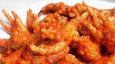 resep praktis (mudah) memasak masakan sederhana ceker ayam mercon spesial pedas enak, lezat