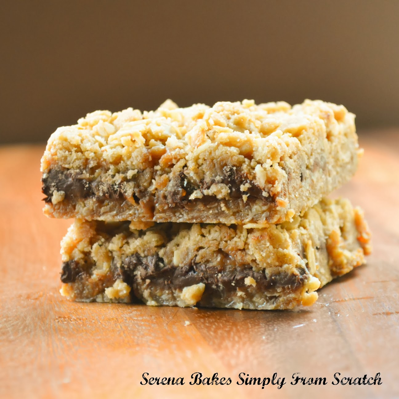 Oatmeal Chocolate Caramel Carmelitas | Serena Bakes Simply From ...