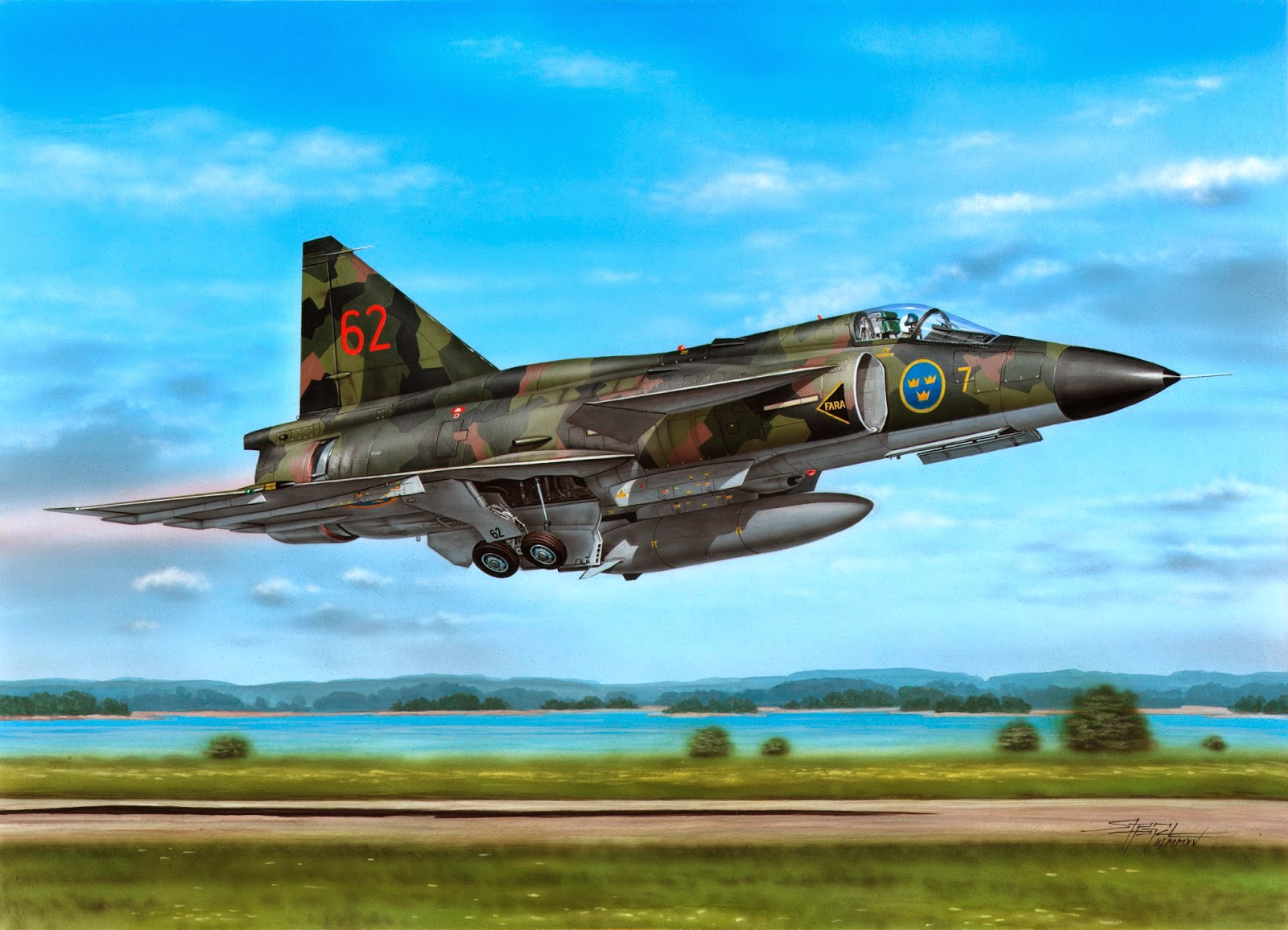 1 48 Saab Aj37 Viggen By Special Hobby Released New
