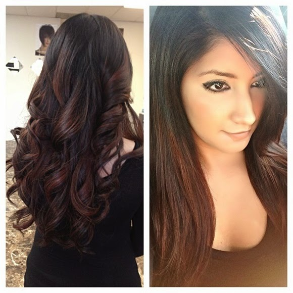5 hot red highlights that will impress your friends hairstyles dark brown hair with blonde and red highlights can be said as the newest and contemporary way of hair and a big durability of the style pmusecretfo Gallery