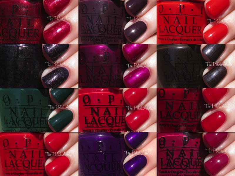 This Collection Is Very Heavy On Reds Which Something Opi Tends To Do For Every Holiday But There Are A Gems In Here
