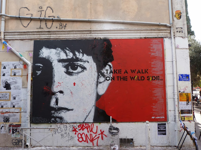 Tribute To Lou Reed Mural By French Street Artist Jef Aerosol In Marseille, France. 1