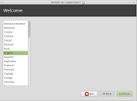 start linuxmint13 install welcome screen
