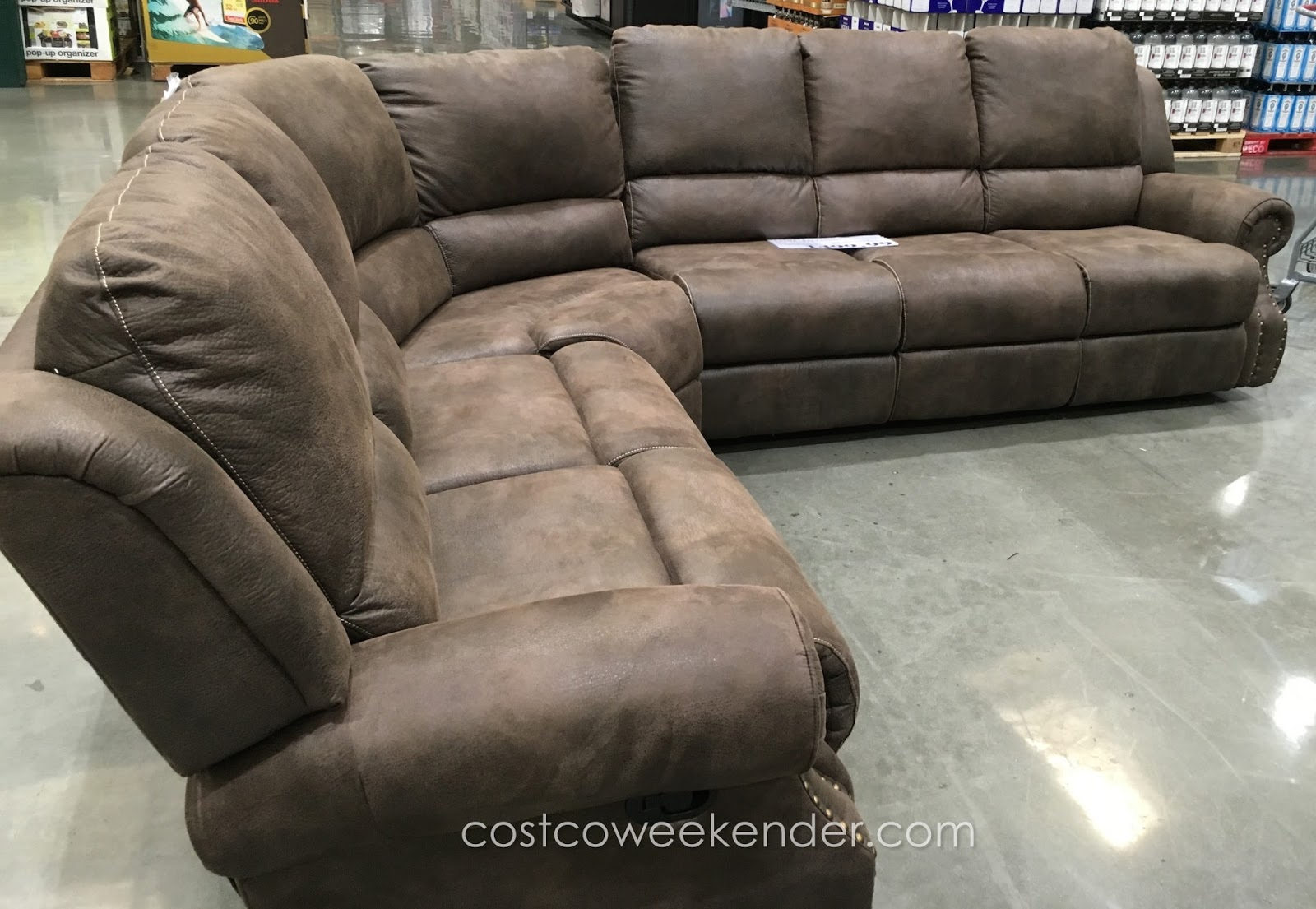 Lounge in comfort with the Motion Sectional with Three Recliners & Motion Sectional with Three Recliners | Costco Weekender islam-shia.org