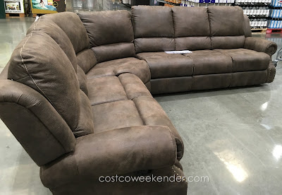 Lounge in comfort with the Motion Sectional with Three Recliners