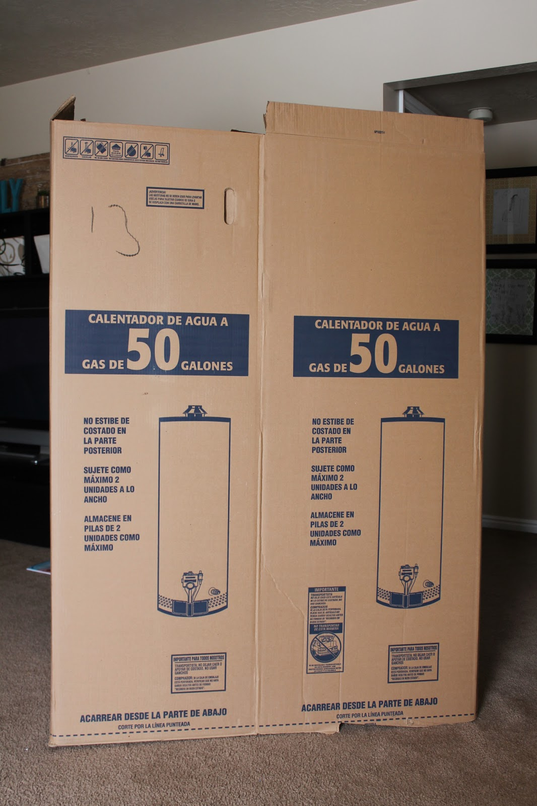 Water Heater Box Diy Photo Backdrop Find It Make It Love It
