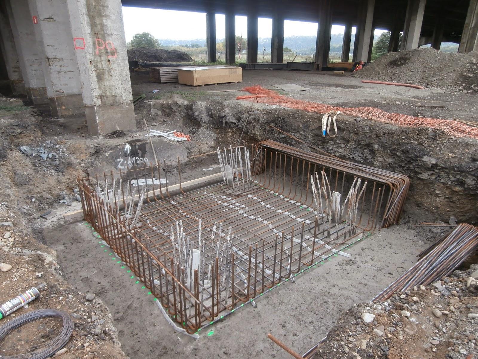 Ferraillage Fondation : Réhabilitation et élargissement des viaducs de herstal sur