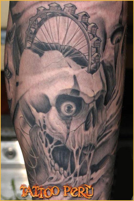 ¿En que parte del Cuerpo se puede Tatuar?. 01_calavera_black_and_grey