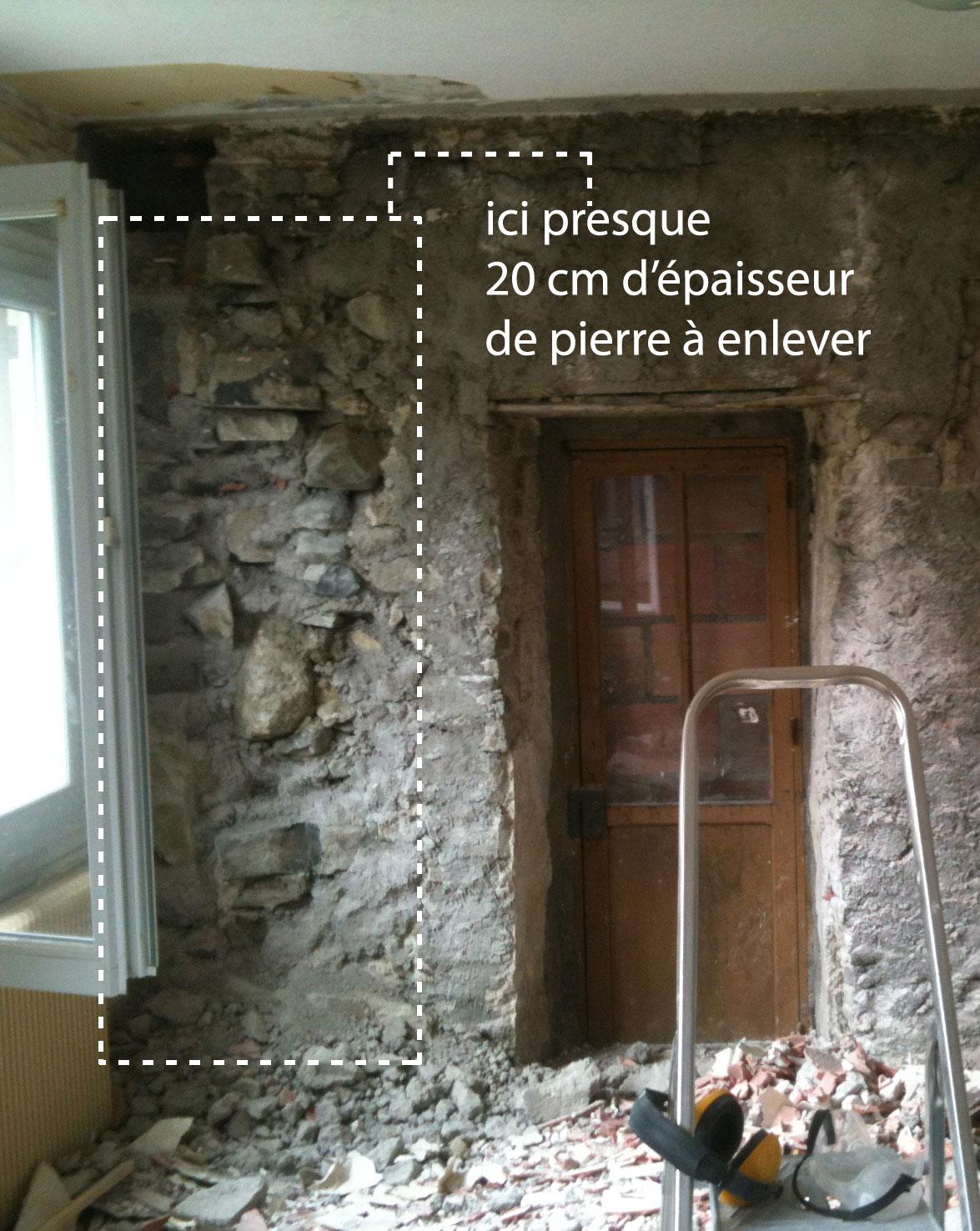R novation de ma maison la double cloison ou le mur qui en cache un autre - Isolation exterieure mur pierre ...