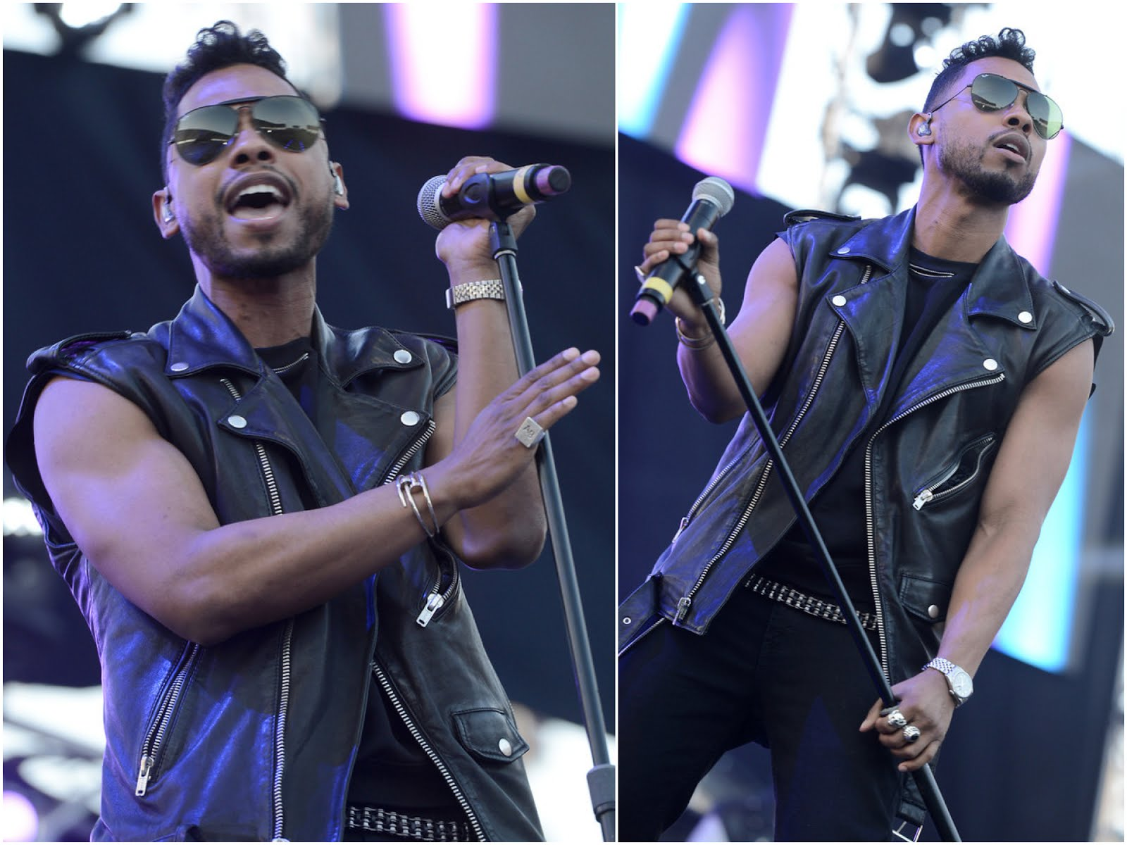 00O00 Menswear Blog: Miguel in BLK DNM and Saint Laurent zipped sweatshirt - 102.7 KIIS FM's Wango Tango 2013