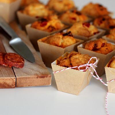 Illustration 3 muffins chorizo & poivron piquillos