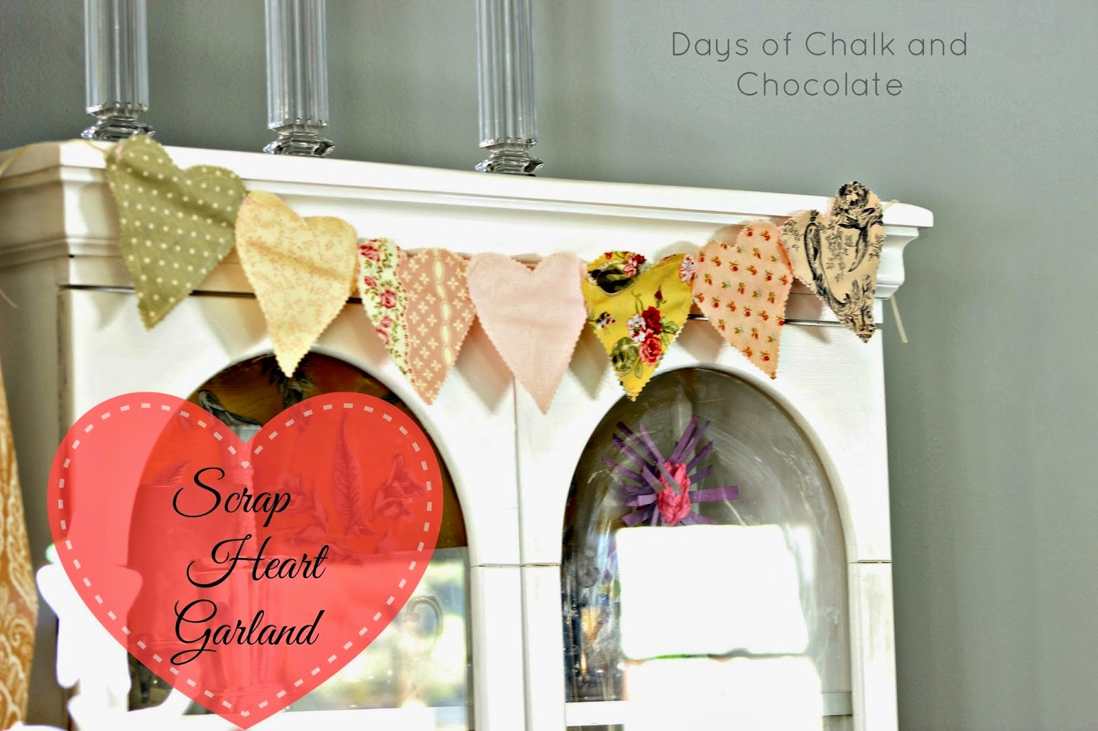 Easy fabric hearts decor holiday