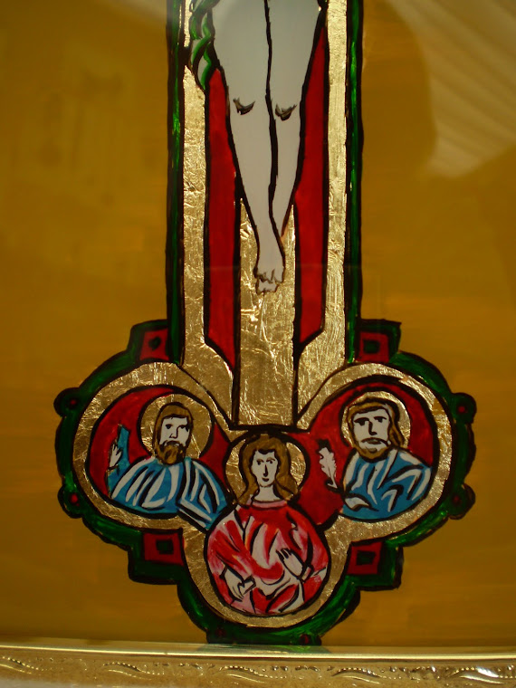 icon, Crucifixion, detail2