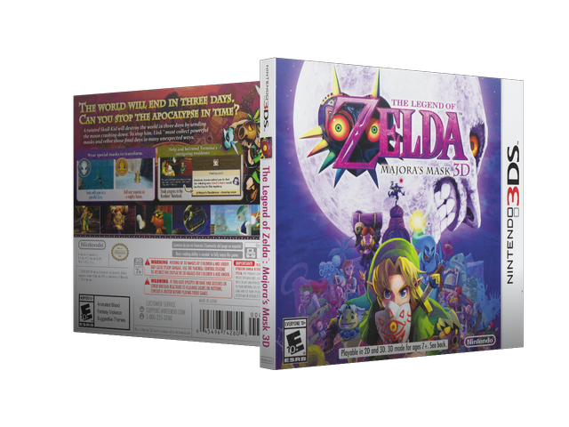Capa The Legend Of Zelda Majoras Mask 3D 3DS