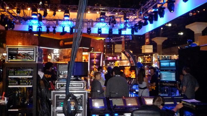 behind the scenes live television crew production set spectators