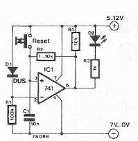 Drop voltage indicator circuit