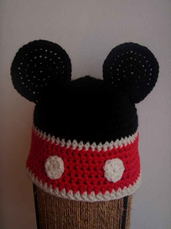 Knitting Pattern Mouse Hat : Mickey Mouse Knitted Hat Pattern Joy Studio Design Gallery - Best Design